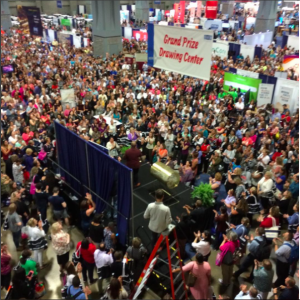 dcshrm took lots of great photos including this view of the sea of people waiting for the shrm16 drawing.