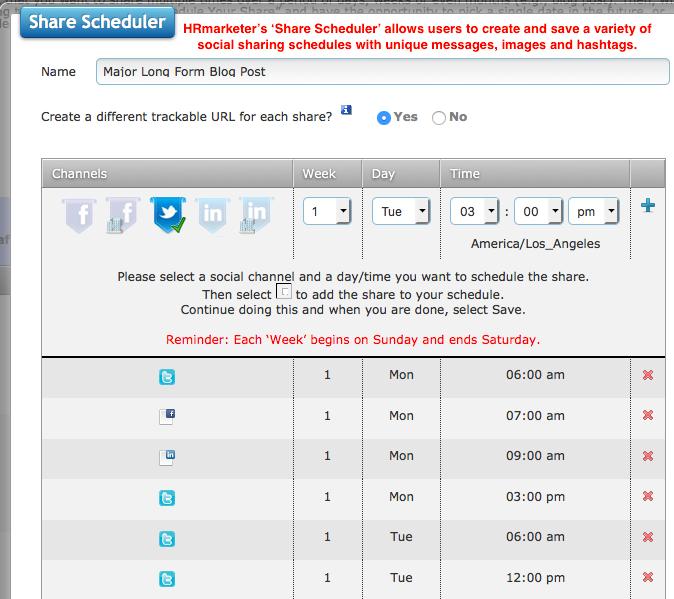 sharing schedule